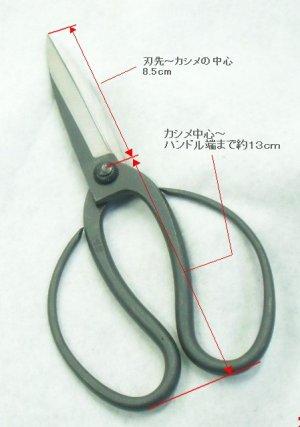 画像1: 手打ち 松葉切ハサミ 215mm【別注品】